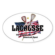 Lacrosse Oval Decal