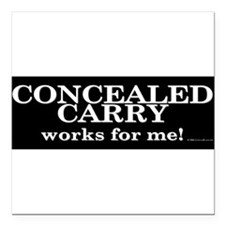 "Cute Firearm Square Car Magnet 3"" x 3"""