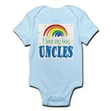 i Love My Gay Uncles Baby Toddler Body Suit