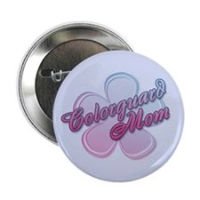 Colorguard Mom Flower Button