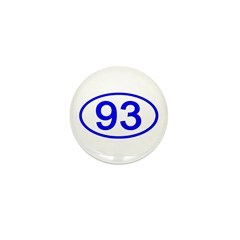 Number 93 Oval Mini Button