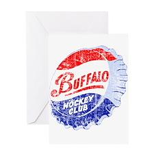 Vintage Buffalo Hockey Greeting Card