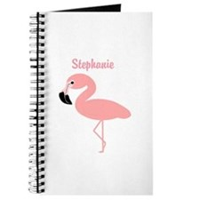 Personalized Flamingo Journal