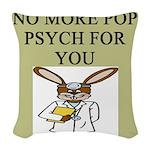 pop psych Woven Throw Pillow