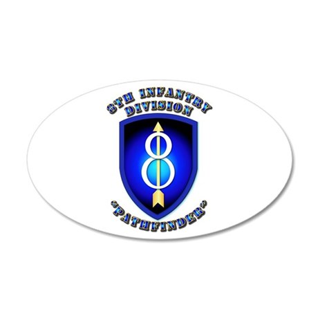 Army - Division - 8th Infantry 20x12 Oval Wall Dec