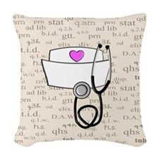 Nurse Woven Throw Pillow