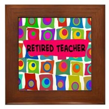 retired teacher 2 Framed Tile