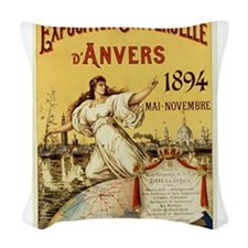 french poster Woven Throw Pillow