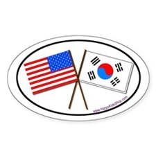 Oval Sticker USA/Korea