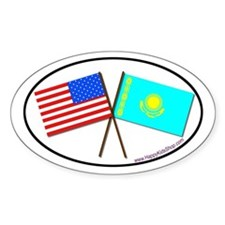 Oval Sticker USA/Kazakhstan