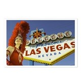 Las Vegas Showgirl Postcards (Package of 8)