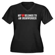 My Heart Belongs To An Ironworker Women's Plus Siz