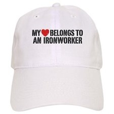 My Heart Belongs To An Ironworker Cap