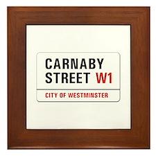 Carnaby Street, London - UK Framed Tile