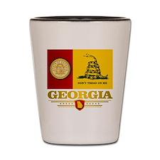 Georgia Gadsden Flag Shot Glass