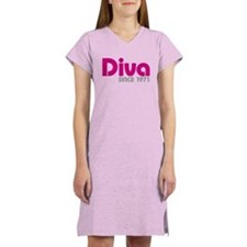 Diva Since 1971 Women's Nightshirt