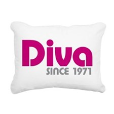 Diva Since 1971 Rectangular Canvas Pillow