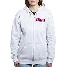 Diva Since 1969 Zip Hoodie