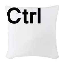 ctrl (control) Woven Throw Pillow