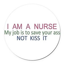 Nurse Round Car Magnet
