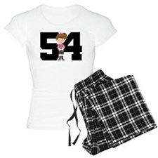 Soccer Sports Number 54 Pajamas