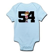 Soccer Sports Number 54 Infant Bodysuit
