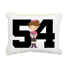 Soccer Sports Number 54 Rectangular Canvas Pillow