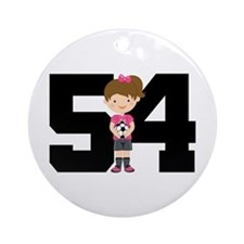 Soccer Sports Number 54 Ornament (Round)