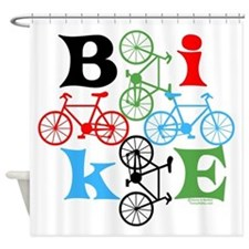 Four Bikes Shower Curtain