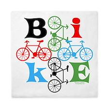 Four Bikes Queen Duvet