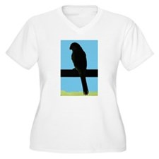 Parrot - blue Plus Size T-Shirt