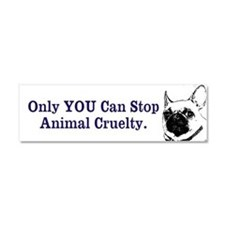 Only YOU Can Stop Animal Cruelty Car Magnet