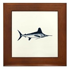 White Marlin Logo Framed Tile