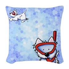 Snorkel Westies Woven Throw Pillow
