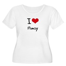 I Love Flimsy Plus Size T-Shirt