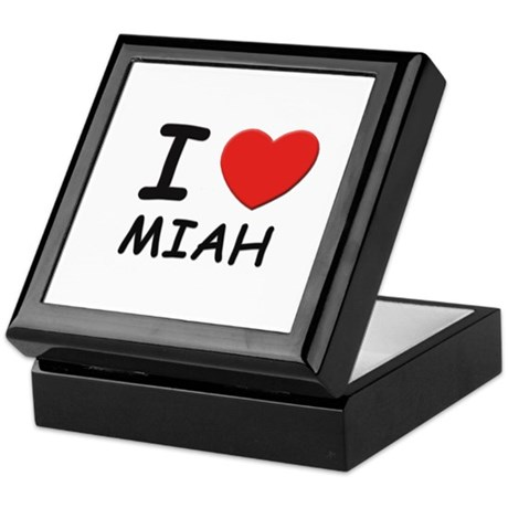 I love Miah Keepsake Box