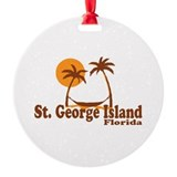 St. George Island - Palm Tree Design. Ornament