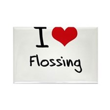 I Love Flossing Rectangle Magnet