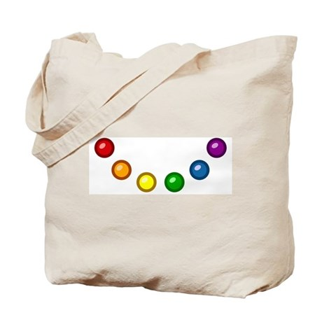 Rainbow Baubles Tote Bag