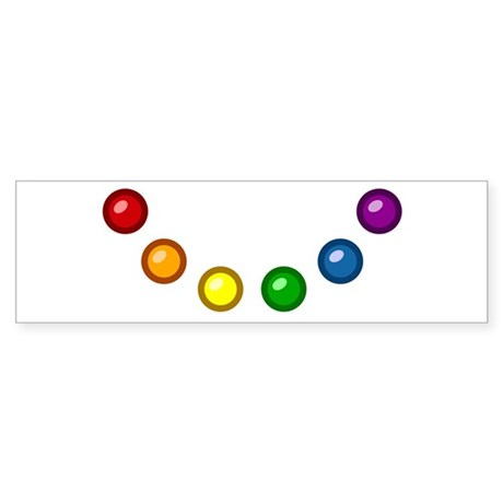 Rainbow Baubles Bumper Sticker