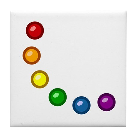 Rainbow Baubles Tile Coaster