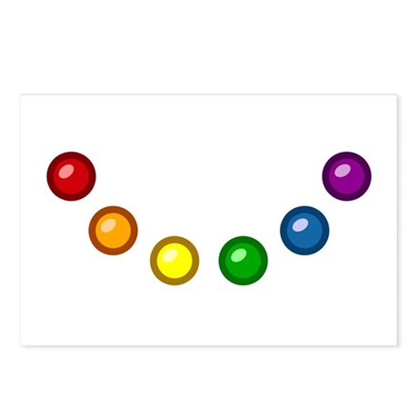 Rainbow Baubles Postcards (Package of 8)