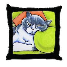 British Shorthair Off-Leash Art™ Throw Pillow