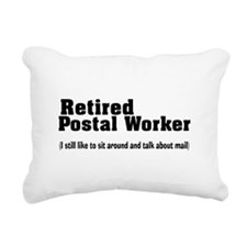 Retired Postal Worker Rectangular Canvas Pillow