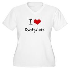 I Love Footprints Plus Size T-Shirt