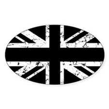"""Black Union Jack"" Oval Decal"