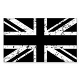 """Black Union Jack"" Rectangle  Aufkleber"