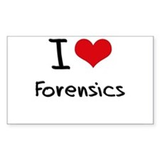 I Love Forensics Decal