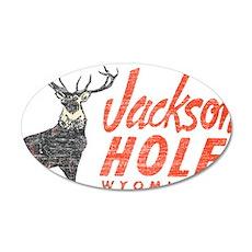 Vintage Jackson Hole 35x21 Oval Wall Decal