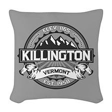 Killington Gray Woven Throw Pillow